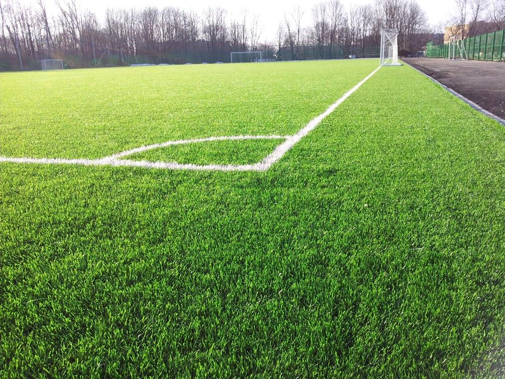 Строительство футбольного поля с натуральным газоном 1