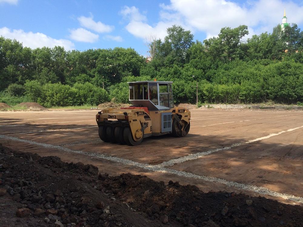 Строительство футбольного поля с натуральным газоном 10