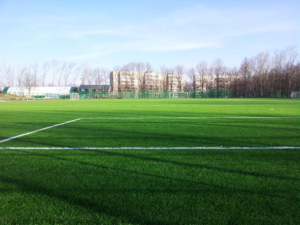 Строительство футбольного поля с натуральным газоном 4