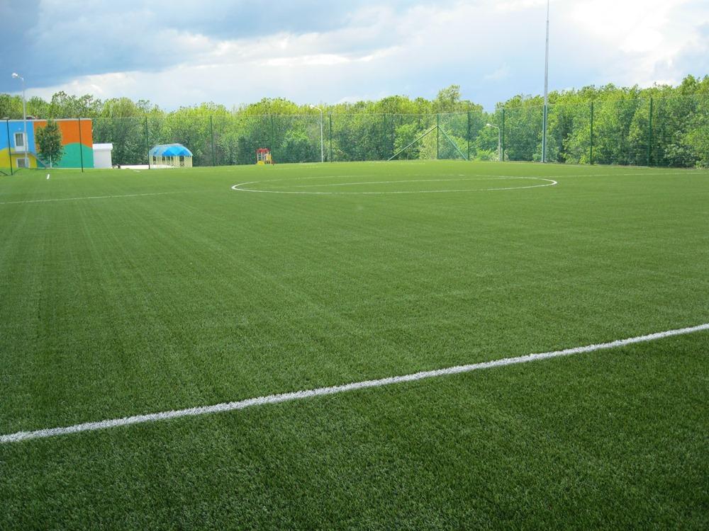 Строительство футбольного поля с натуральным газоном 6