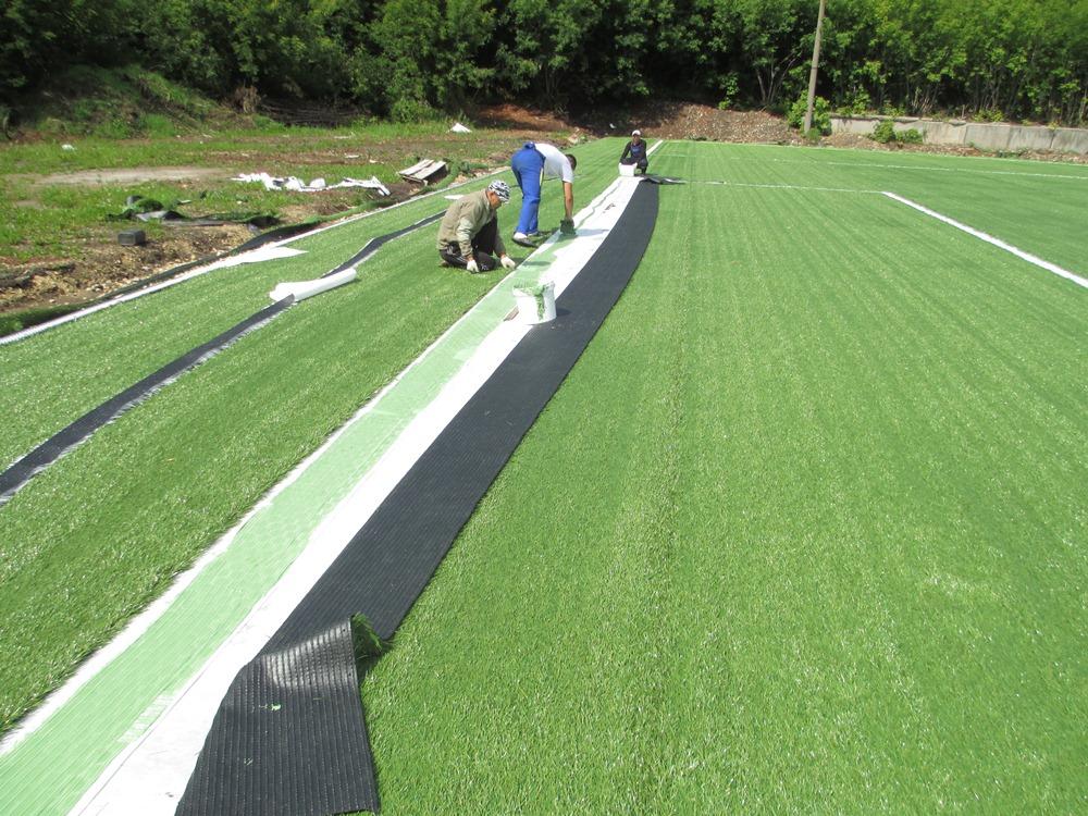 Строительство футбольного поля с натуральным газоном 7